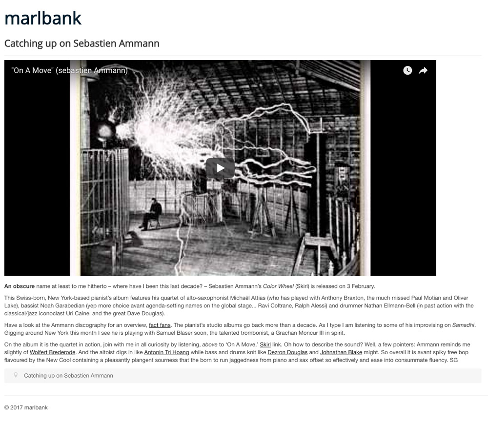 Marlbank 2017 about Color Wheel Sebastien Ammann
